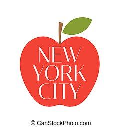 manzana grande, york, nuevo, ciudad