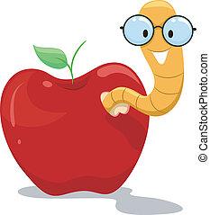 manzana, gusano