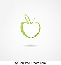 manzana, icono