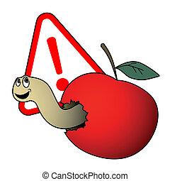 manzana, peligro