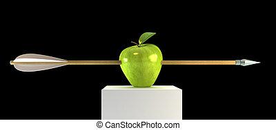 manzana, perforado