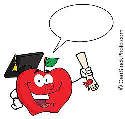 manzana, tenencia, diploma