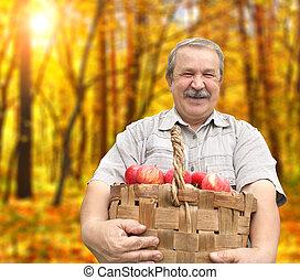 manzanas, cosechar