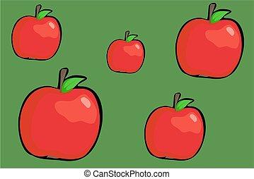 manzanas, rojo