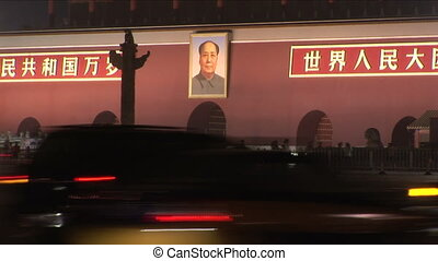 Mao and Forbidden City at Night