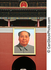 Mao Tse Tung - the tiananmen gate to enter the forbidden...