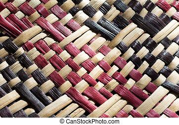 Maori culture - woven flax - Woven flax (close up ) ...