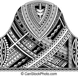 Maori half sleeve ornament
