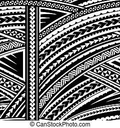maori, stijl, ornament