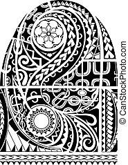 Maori style sleeve tattoo