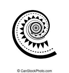 Maori style spiral tattoo