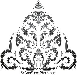Maori style tribal art tattoo