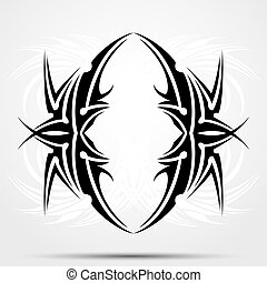 Maori styled tattoo patterns fit for top or bottom back. ...
