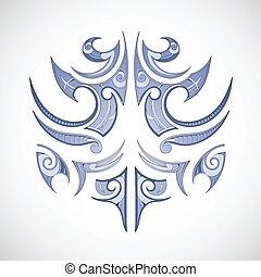 Vector illustration for maori tribal tattoo