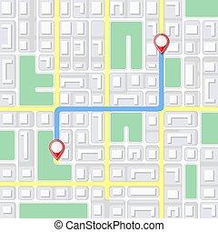 map., 背景, 通り, ナビゲーション