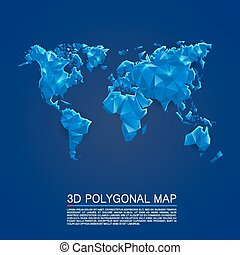 Map 3d polygon art cover