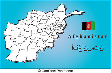 Map Afghanistan - A map of Afghanistan with all provinces....