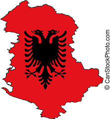 Map Albania - Map and Flag from Albania