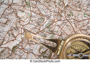 Map and compass - Just the job for an active holiday. [The...