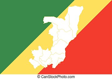 Map and flag of Congo
