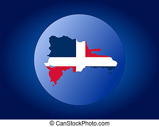 Dominican Republic globe - map and flag of Dominican ...