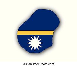Map and flag of Nauru