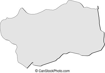 Map - Aosta Valley (Italy) - Map of Aosta Valley, a province...