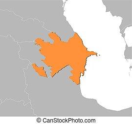 Gray azerbaijan map Map of administrative divisions of vector