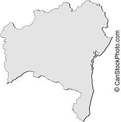 Map - Bahia (Brazil) - Map of Bahia, a province of Brazil.
