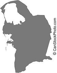 Map - Balkan (Turkmenistan) - Map of Balkan, a province of...