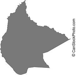 Map - Beni (Bolivia)