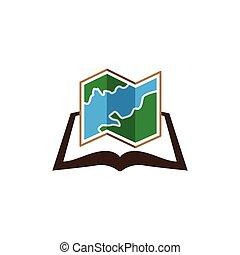 map book logo icon vector