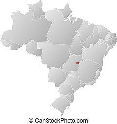 Map - Brazil, Brazilian Federal District
