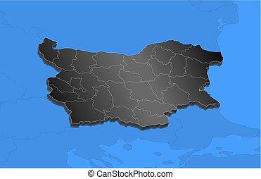 Map - Bulgaria - 3D-Illustration