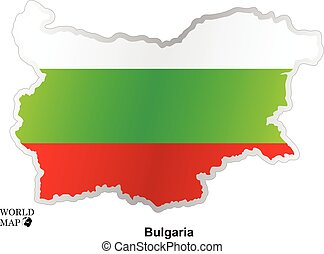 Map Bulgaria. Map with flag.