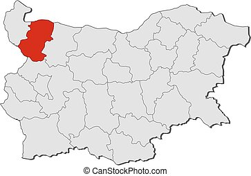 Map - Bulgaria, Montana