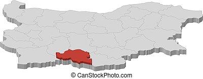 Map - Bulgaria, Smolyan - 3D-Illustration