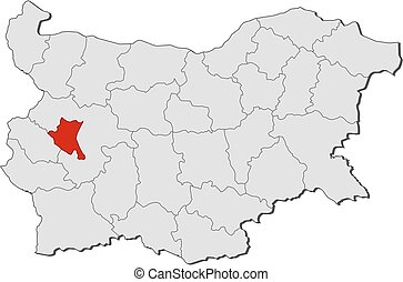 Map - Bulgaria, Sofia City - Map of Bulgaria with the...