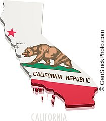 Map California - detailed illustration of a map of...