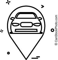 map car location icon vector design