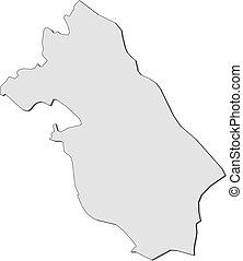 Map - Central Ostrobothnia (Finland)