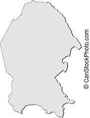 Map - Coahuila (Mexico) - Map of Coahuila, a province of...