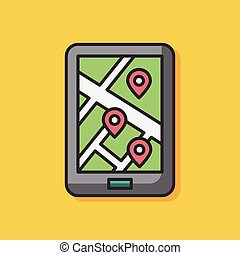 map color line icon