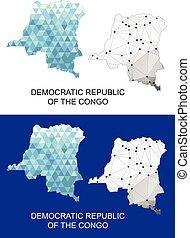 map., congo, république, démocratique