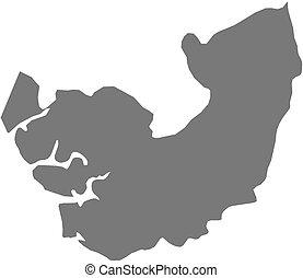 Map - Delta (Nigeria) - Map of Delta, a province of Nigeria.