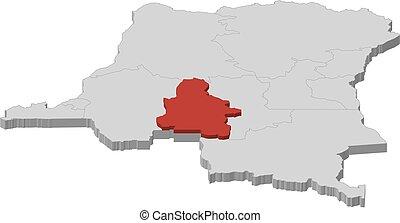Map - Democratic Republic of the Congo, Kasai-Occidental - ...