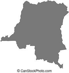 Map - Democratic Republic of the Congo