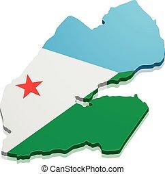 Map Djibouti