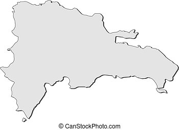 Map - Dominican Republic - Map of Dominican Republic, filled...