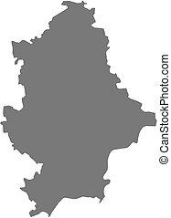 Map of Donetsk, a province of Ukraine.